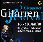 3. GIENGENER GITARRENFESTIVAL Tickets NOW!!!